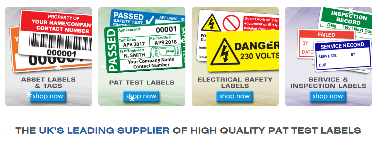 Electrical Safety Inspection Stickers : Welcome to the new pat labels online website