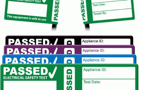 Cable Wrap PAT Test Labels