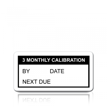 3 Monthly Calibration Labels in Black