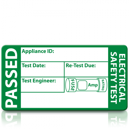 Standard 3rd Edition Passed PAT Test Labels. Choice of Colours