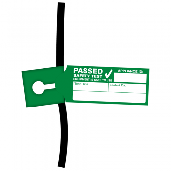 4th Edition Tuff Tag Passed PAT Test Labels for Harsh Environments. Choice of Colours