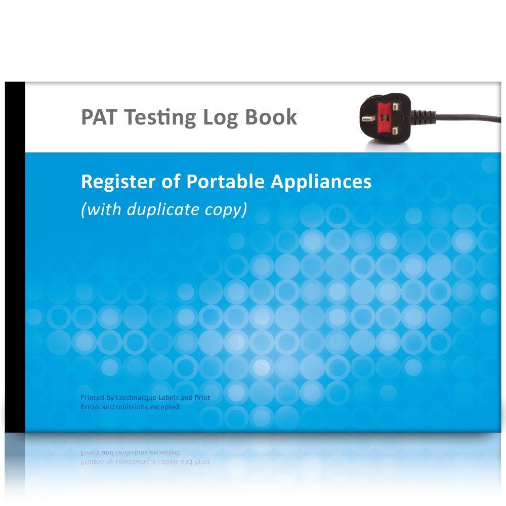 a4 pat test log book  u0026 register of portable appliances