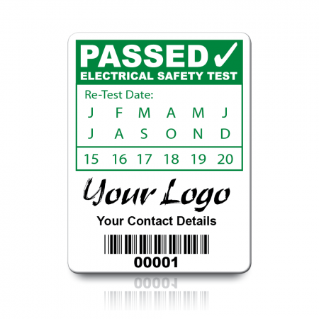 Custom PAT Test Labels - Design 1. Choice of colours