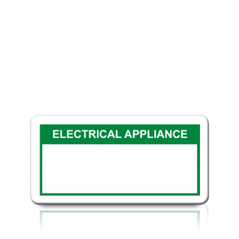 Electrical Appliance Labels in Green