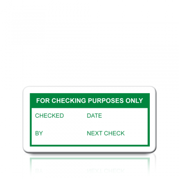 For Checking Purposes Only Labels in Green