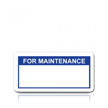 For Maintenance Labels in Blue