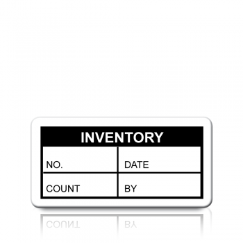 Inventory Labels in Black