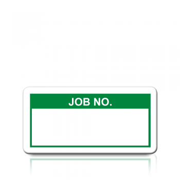 Job No. Labels in Green