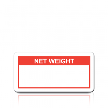 Net Weight Labels in Red