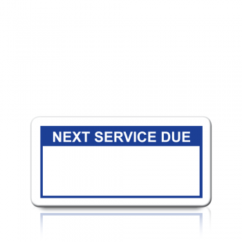 Next Service Due Labels in Blue