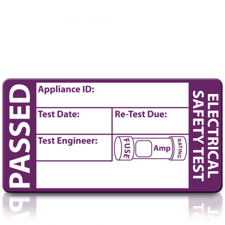 Personalised Standard 3rd Edition Passed PAT Test Labels. Choice of Colours