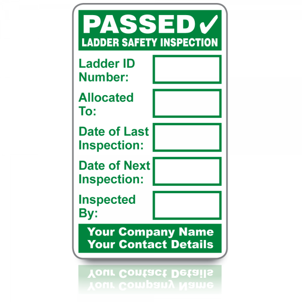 Buy Personalised Ladder Safety Inspection Labels Free