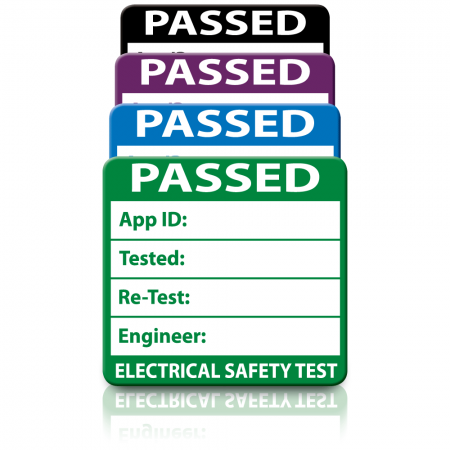 Plug Top 3rd Edition Passed PAT Test Labels. Choice of Colours