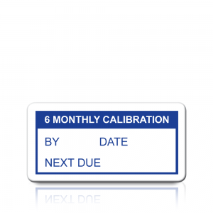 6 Monthly Calibration Labels in Blue