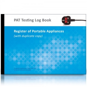 A4 PAT Test Log Book & Register of Portable Appliances (Multiple Site with Duplicate Copy)