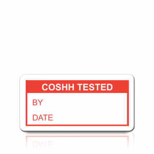 Coshh Tested Labels in Red