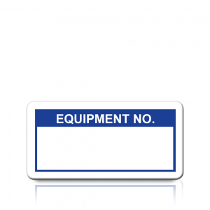 Equipment No. Labels in Blue