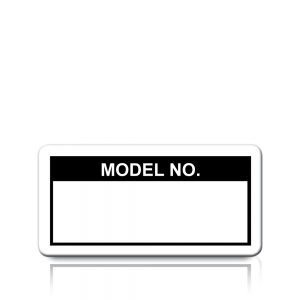 Model No. Labels in Black