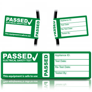 Passed PAT Wrap Labels for PAT Testing
