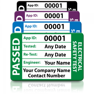 Personalised Medium 3rd Edition Passed PAT Test Labels. Choice of Colours