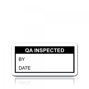 QA Inspected Labels in Black