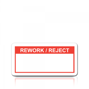 Rework/Reject Labels in Red