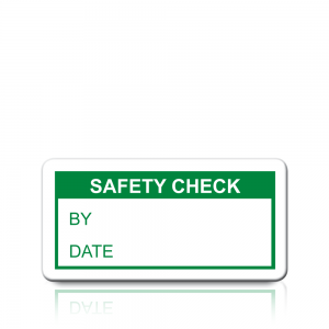 Safety Check Labels in Green