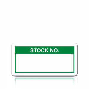 Stock No. Labels in Green