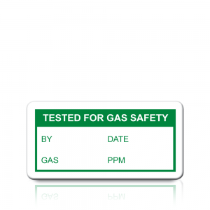 Tested For Gas Safety Labels in Green