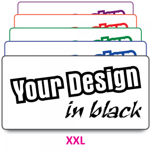 XXL Size Labels to Your Design. Choice of colours
