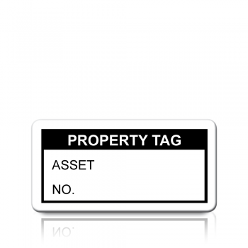 Property Tag Labels in Black