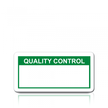 Quality Control Labels in Green