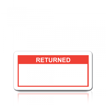 Returned Labels in Red
