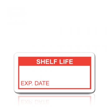 Shelf Life Labels in Red