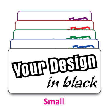 Small Size Labels to Your Design. Choice of colours