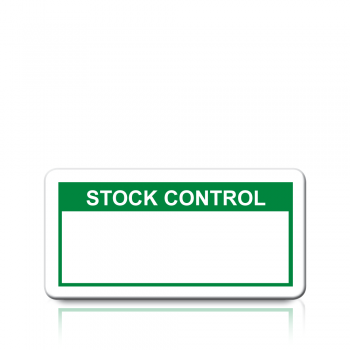 Stock Control Labels in Green