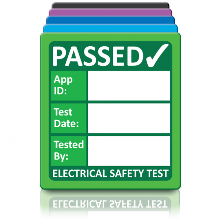 Super Stick 4th Edition PAT Test Labels - Sticks to almost anything! Design 2. Choice of colours