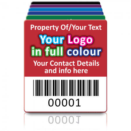 Super Stick Asset Labels Fully Customisable - Sticks to almost anything! Design 2