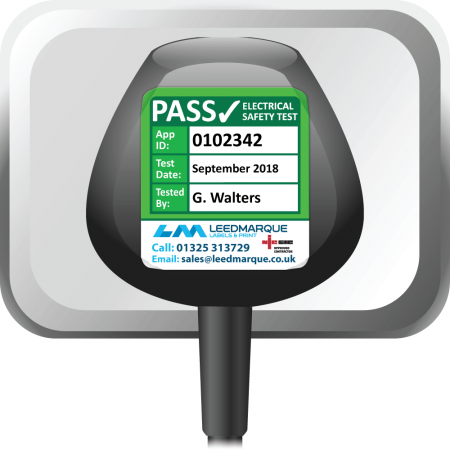 Super Stick PAT Test Labels Fully Customisable - Sticks to almost anything! Design 2