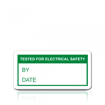 Tested For Electrical Safety Labels in Green