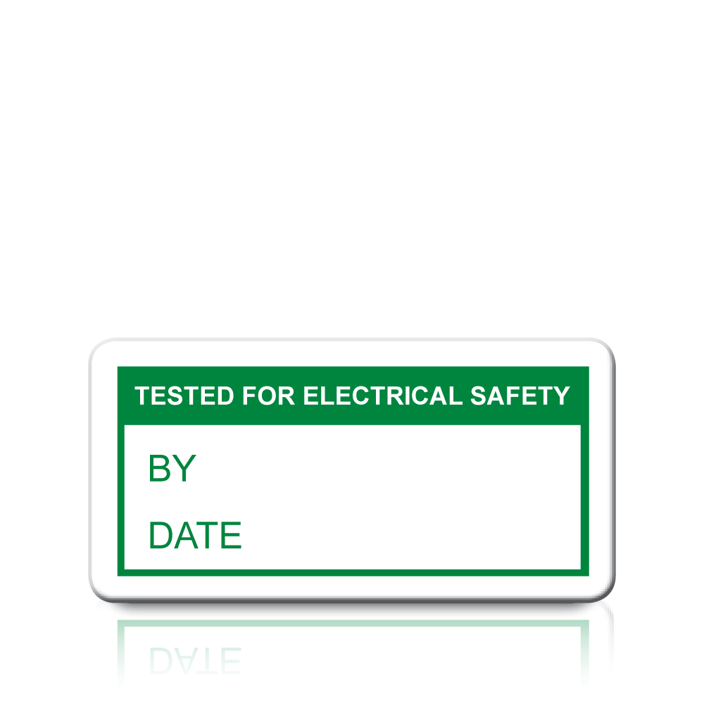Electrical Safety Inspection Stickers : Buy tested for electrical safety labels in green