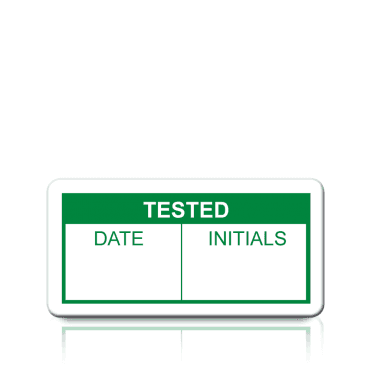Tested Labels in Green