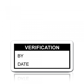 Verification Labels in Black